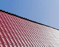 Telha metálica fachada