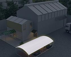 Telha translúcida para garagem