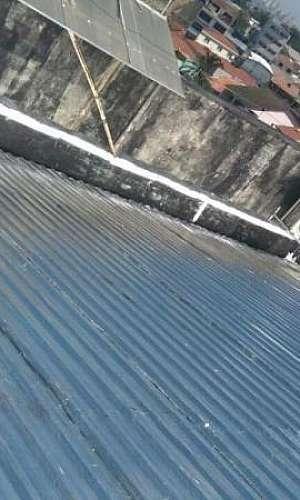 Impermeabilização de telhado galvanizado