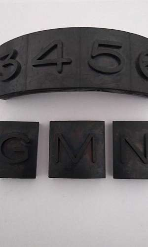 Letras emborrachadas para pneus