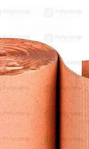 Rolo de papelão ondulado