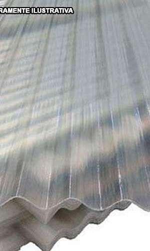 telha de fibra translúcida